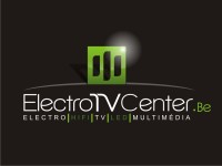 Logo Electro TV Center en quadri sur fond noir