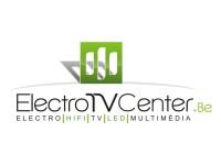Logo Electro TV Center en quadri sur fond blanc déclinaison web